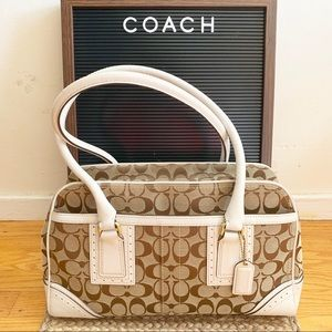 Coach - white leather handle with classic C logo